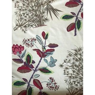 Quadrille Jardin Des Plantes Multi-Color Cotton Chintz Fabric For Sale