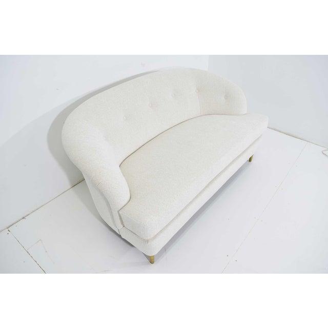 Metal Edward Wormley for Dunbar Short Sofa Model 5406 For Sale - Image 7 of 13
