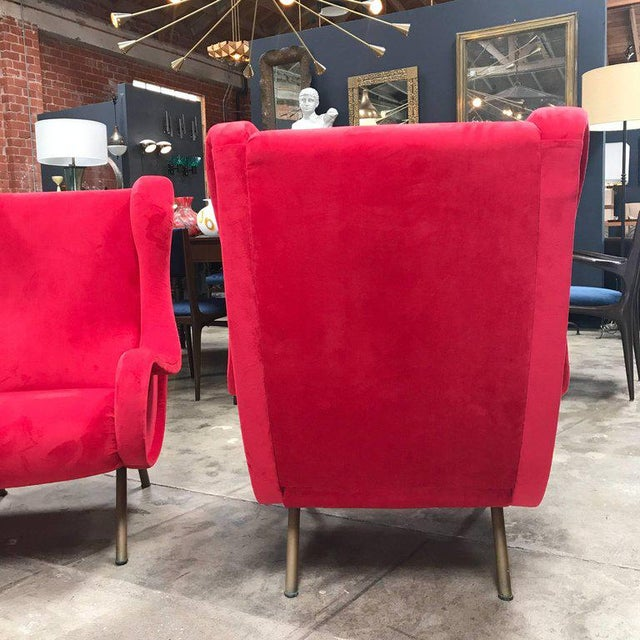 1960s Pair of Marco Zanuso Senior Armchairs for Arflex For Sale In Los Angeles - Image 6 of 9