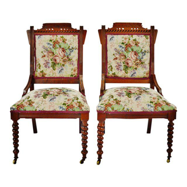 Victorian Eastlake Side Chairs - a Pair For Sale - Image 13 of 13