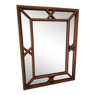 1970s Faux Bamboo Mirror For Sale
