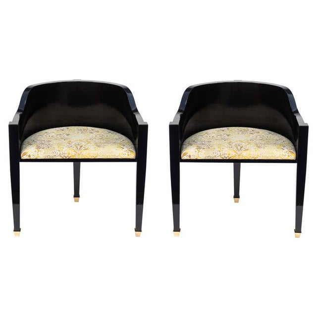 Vintage Mid Century Hollywood Regency Style Chairs- A Pair For Sale - Image 12 of 12