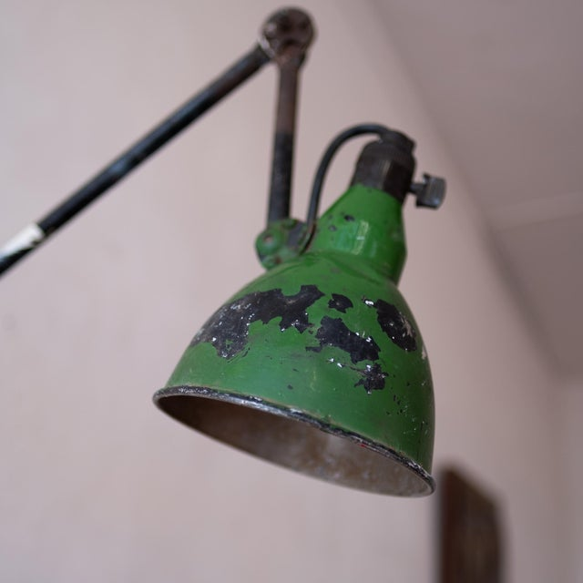 Metal Vintage French Industrial Wall Lamp 1930s For Sale - Image 7 of 13