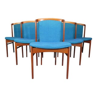 Erik Buck Danish Mid Century Modern Teak Dining Chairs - Set of 6 For Sale