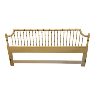 Vintage Chippendale Faux Bamboo King Size Headboard For Sale