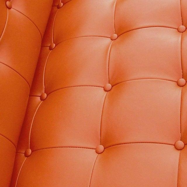 1960s Vintage Mid-Century Widdicomb Mueller Jack Cross Leather Chrome Sofa For Sale - Image 5 of 6