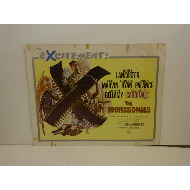 "Vintage movie poster for ""The Professional"" starring Burt Lancaster and Lee Marvin. 66/327. Copyright 1966. Columbia..."