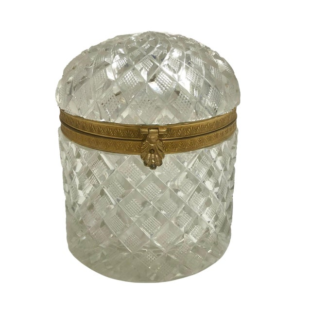 19th Century Large French Baccarat Crystal Box For Sale In Tampa - Image 6 of 6