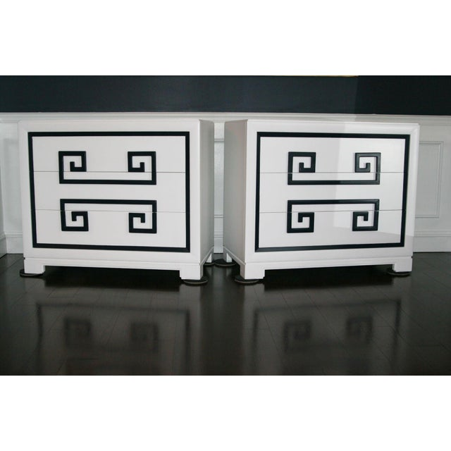 1940s Hollywood Regency Kittinger Greek Key Chests - a Pair For Sale - Image 11 of 11
