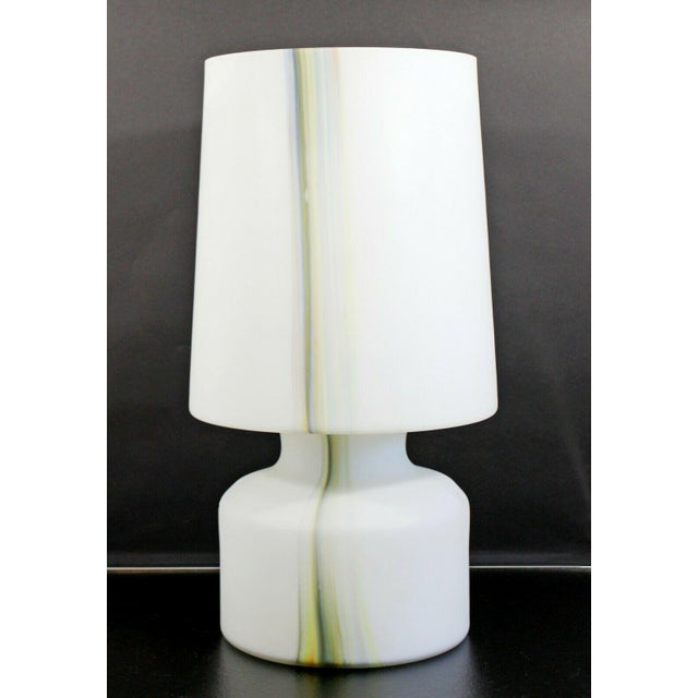 Mid Century Modern Large White Murano Glass Table Lamp 1970s Italy For Sale - Image 10 of 10