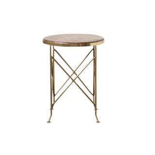 Brass Round Side Table For Sale