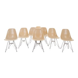 Mid 19th Century Eames for Herman Miller Chairs with Eiffel Tower Base - Set of 8 For Sale