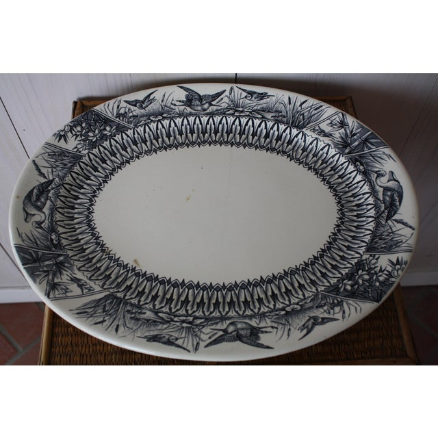 Late 19th Century Antique English Transferware Platter For Sale - Image 4 of 13