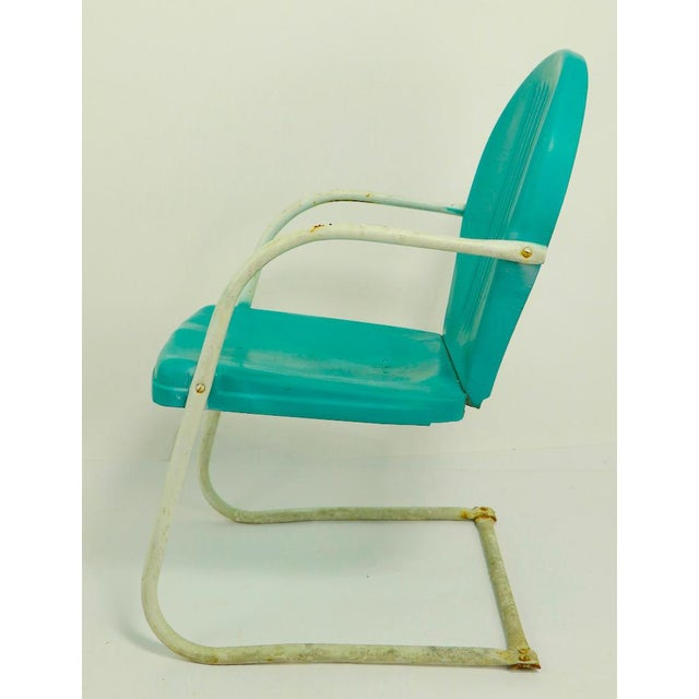 Mid Century Metal Lawn Garden Patio Chairs by Shott - a Pair For Sale In New York - Image 6 of 13