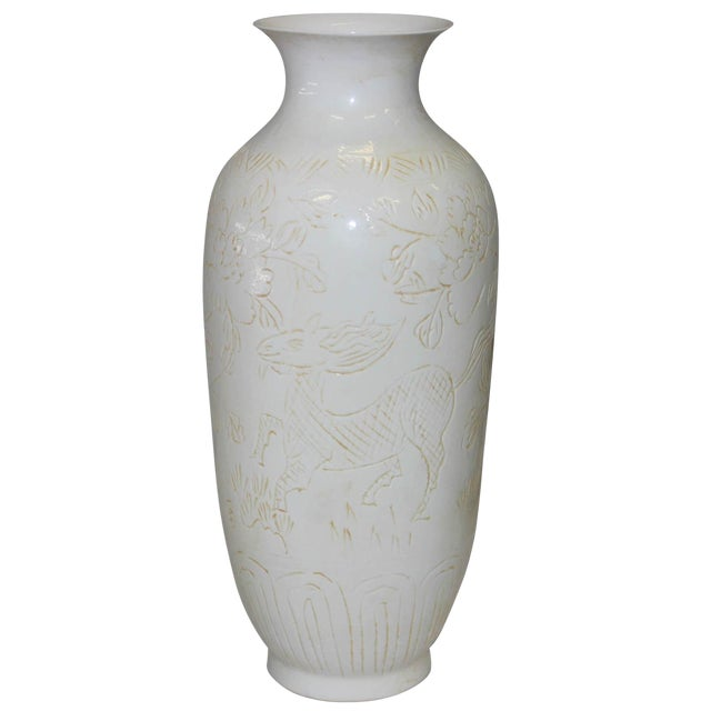 white porcelain ming vase for sale - Ming Vase