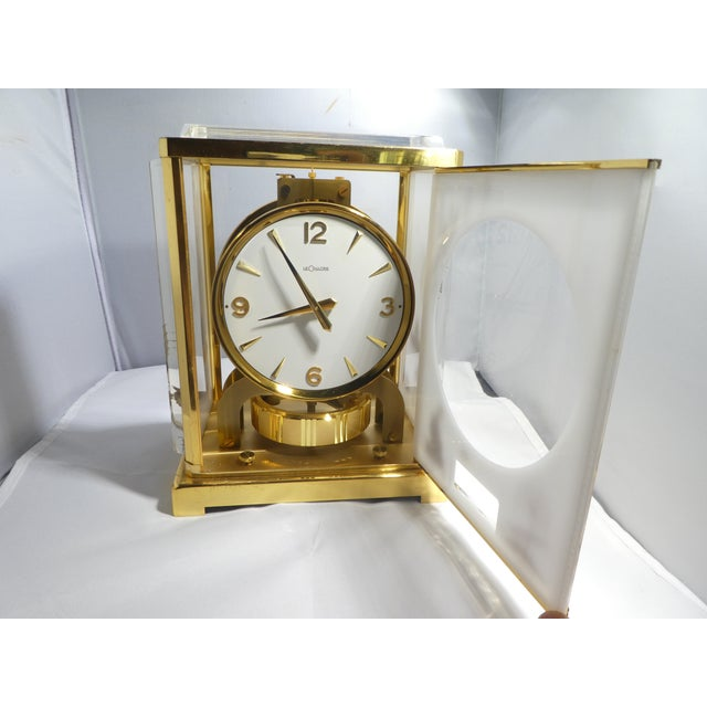 Gold Jaeger Le Coultre Chinoiserie Marina Clock For Sale - Image 8 of 12