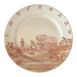 "20th Century Americana Restaurant Ware ""Chuck Wagon Plate"" For Sale"