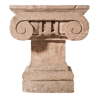 1970s Carved Stone Capital For Sale