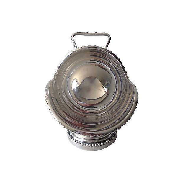 Silverplate Salt Cellar With Server Scoop - Image 4 of 7