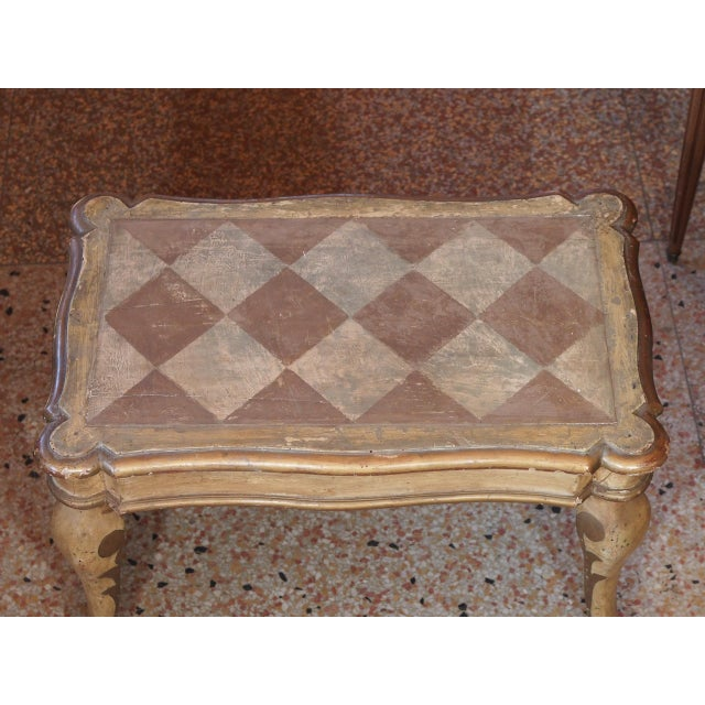 Neoclassical Small 19th Century Italian Side Table For Sale - Image 3 of 7