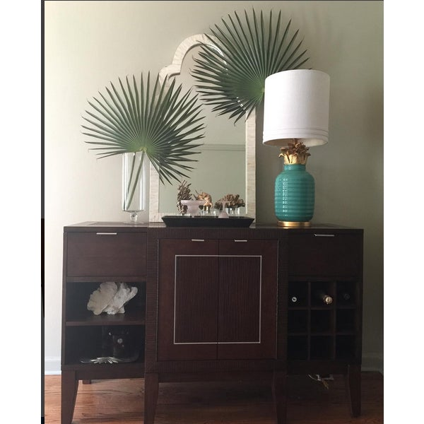 Teal Hollywood Regency Pineapple Lamps - A Pair - Image 4 of 4