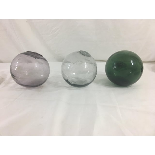 Blown Glass Globes- Set of 3 For Sale - Image 6 of 6