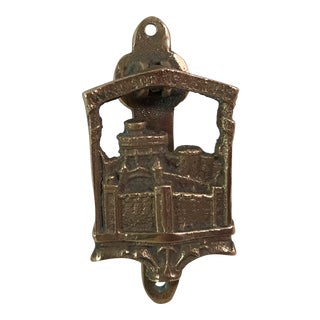 Vintage Windsor Castle Brass Door Knocker For Sale