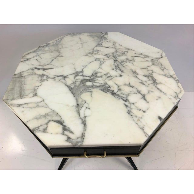 1950s Italian Marble Top Center Table For Sale - Image 4 of 7
