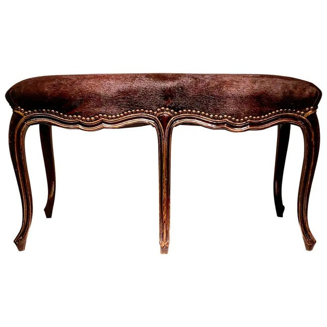 Late 19th Century French Louis XV Style Bench For Sale - Image 10 of 10
