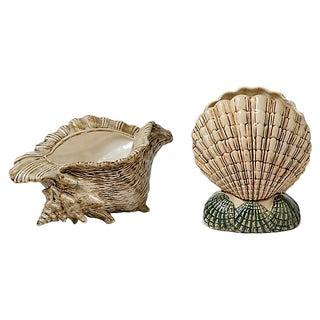Shell Vase & Planter - A Pair