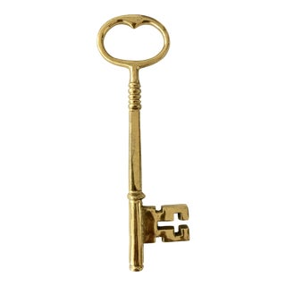 Solid Brass Skeleton Key Paperweight For Sale