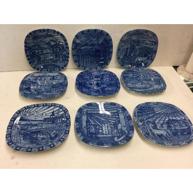 Ceramic 9 Swedish Rorstrand Christmas Plates For Sale - Image 7 of 7