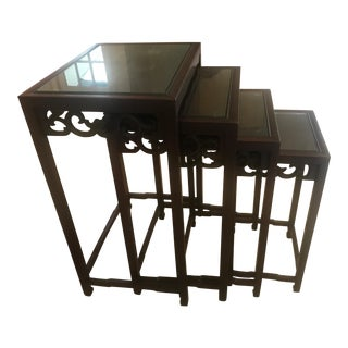 1970s Vintage Chinese Nesting Tables - Set of 4