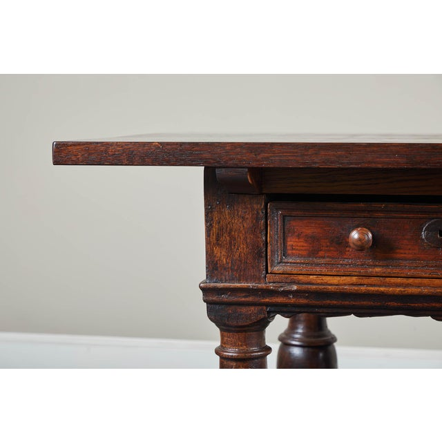 18th Century Danish Baroque Table With Turned Legs For Sale - Image 9 of 10