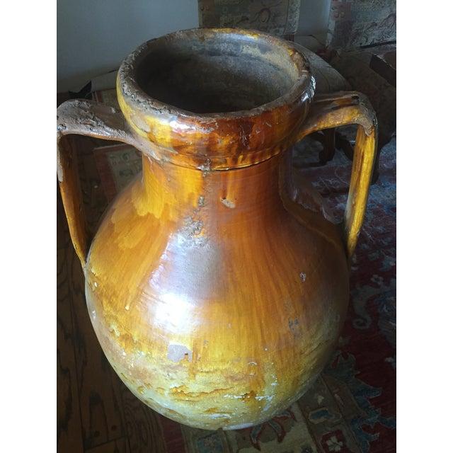 Mediterranean Antique Italian Wine Urn For Sale - Image 3 of 3