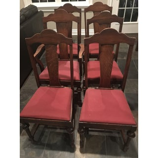 1920s Tiger Oak Chairs - Set of 6 Preview