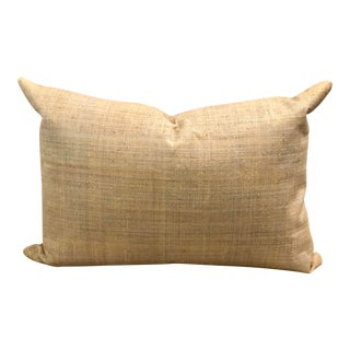 Raffia Grasscloth Pillow For Sale