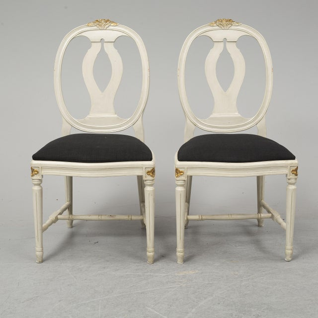 Wood 1970s Vintage Gustavian Rose Chairs - Set of 6 For Sale - Image 7 of 10