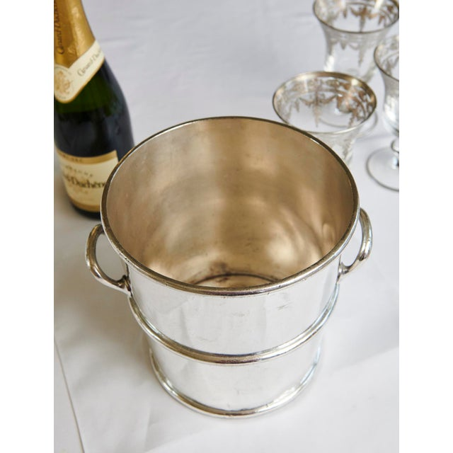 1910s Reed & Barton Silverplate Moana Hotel, Hawaii Champagne Bucket For Sale - Image 5 of 9
