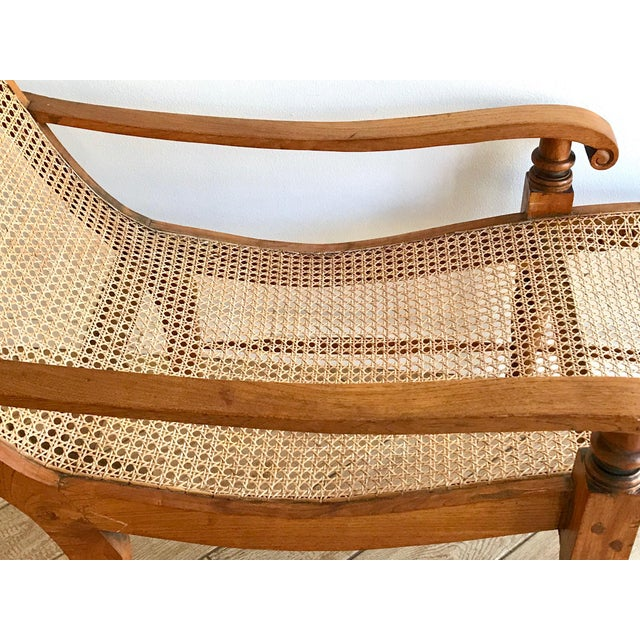 Caning Early 20th Century Antique Bauer Plantation Chaise Lounge For Sale - Image 7 of 13