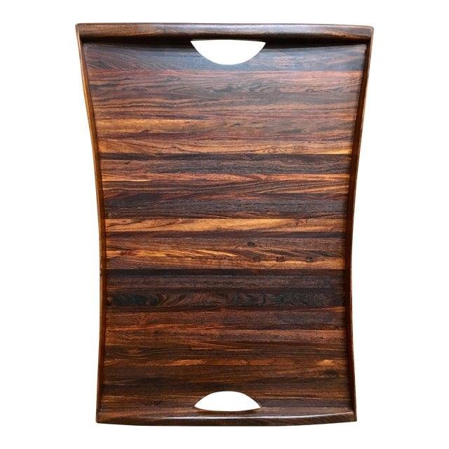 Don Shoemaker Exotic Hardwood Serving Tray For Sale