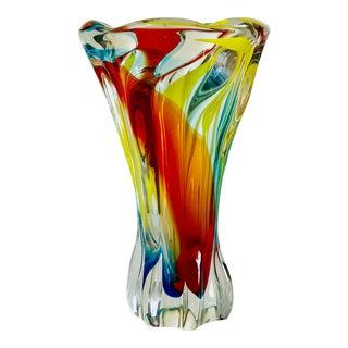 1950's Fulvio Bianconi for Venini Blown Glass Vase For Sale