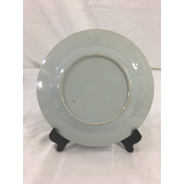 Chinese Early 19th Century Chinese Export Blue Celadon Plate For Sale - Image 3 of 4