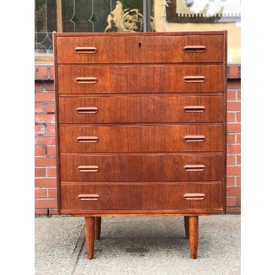 1970s Vintage Danish Modern Dresser Cabinet Storage Drawers For Sale - Image 5 of 5