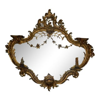 Large Giltwood Mirror in the Chinese Style, Early 20th Century For Sale