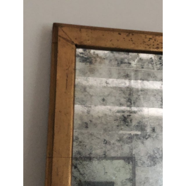"Super extra large mirror by John Richard with crackled gold frame and antiqued glass mirror. Measures 71.5"" x 40"" and has..."