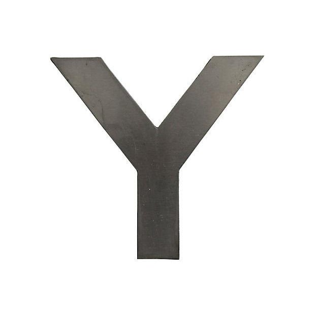 1950s Stainless Steel Letter Y For Sale - Image 5 of 5