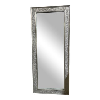 Moroccan Hand Embossed and Stamped Floral Wall Mirror For Sale