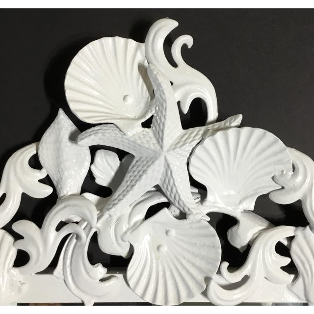 White Sea Shell Mirrors - a Pair For Sale - Image 10 of 13