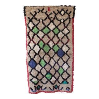 1970s Vintage Boho Moroccan Rug For Sale